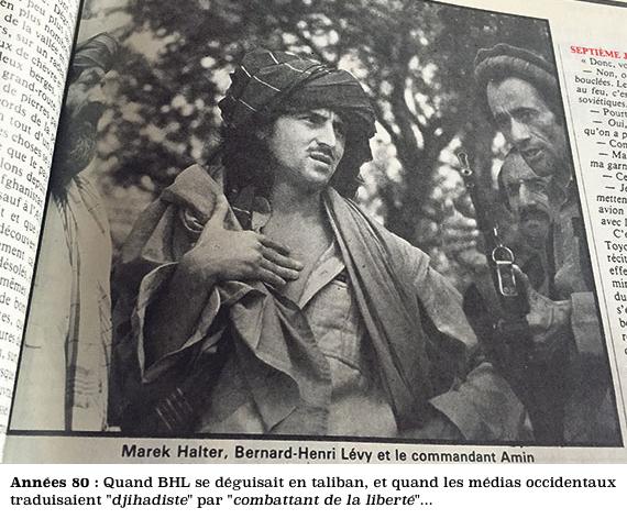 BHL déguisé en taliban d'opérette