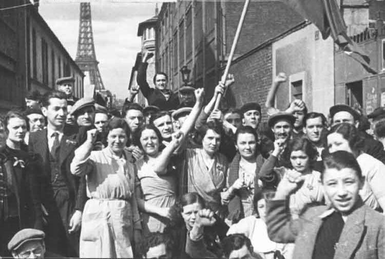 1936-Manifestation à Paris